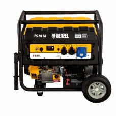 Генератор бензиновый PS 80 EA, 8,0 кВт, 230В, 25л, коннектор атики, электростартер// Denzel Автом 946924