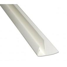 Профиль конечный угловой F для панелей 10мм 3,0м Идеал Белый / 001 IDEAL Ф10 001/БЕЛ