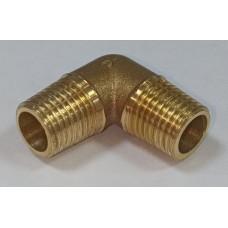 Уголок для компрессора резьба наружная  1/4 латунь MML04 Pegas 4309