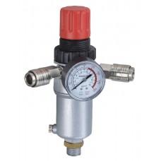 Фильтр  PG-4000-04 с регулятором давления и манометром  вход-выход быстросъем резьба 1/2 Pegas 4510