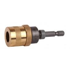Адаптер  ЭКСПЕРТ магнитный для бит, фиксатор, ограничитель глубины вворачивания шурупов, 60мм Зубр 26753-60