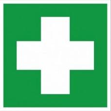Наклейка Аптечка первой медицинской помощи EC01 (200х200мм.)  PROxima EKF 653649