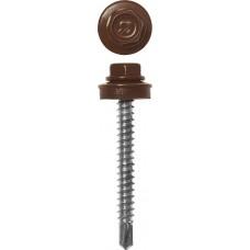Саморез кровельный 4,8*35 RAL 8017 шоколадно-коричневый 380шт, для деревянной обрешетки,  Профессионал Зубр 4-300315-48-035-8017