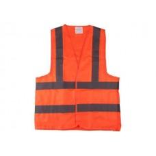 Жилет сигнальный р-р 2XL (56-58) ткань Оксфорд (оранжевый) STARTUL ST7510-06
