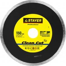 Диск алмазный 150*22,2мм отрезной сплошной по керамограниту, мрамору, плитке,  Professional Stayer Clean Cut 3665-150_z01