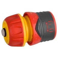 Соединитель  Premium с автостопом и запирающим механизмом, пластмассовый с TPR, 1/2 Grinda 8-426431