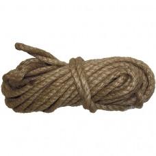 Веревка джутовая, L 10 м, крученая, D 8 мм Р// Сибртех 94013