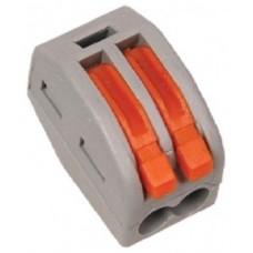 Смк  СМК-412 клеммная колодка с рычагом 2х(0,08-2,5мм2) (цена за 1шт.) тип WAGO SBE-cwcc-2 Smartbuy 613224