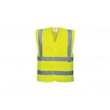 Жилет светоотражающий  желтый (размер XXL) ГОСТ 12.4.281-2014 СИГМА /1/100 NEW  AT-100