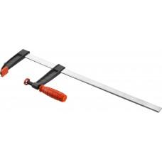 Струбцина  МАСТЕР, тип F, пластмассовая ручка, стальная закаленная рейка, 120*500мм Зубр 32150-120-500