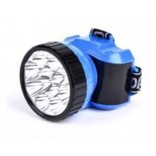 Фонарь  фонарь налобный SBF-26-B (акк. 4V 0.5 Ah) 12св/д, синий/пласт+мет,2 режима, з/у 220V Smartbuy 575677