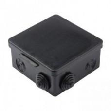 Коробка Uplast коробка распред.  65х65х45мм ОУ 4 гермоввода с крышкой ЧЕРНАЯ IP54 030-036Ч  723138