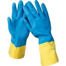 Перчатки  латексные с неопреновым покрытием, экстрастойкие, с х/б напылением, размер XL Stayer 11210-XL