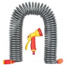 Набор  PROLine набор поливочный: шланг спиральный 3/8x15м, пистолет-распылитель, адаптеры Grinda 428495