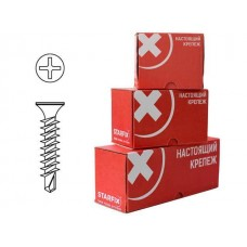 Саморез 3,9*19 оконный 3.9х19 мм белый цинк, частая резьба, со сверлом (2000 шт в карт. уп.) цена за кг STARFIX SMC3-80882-2000