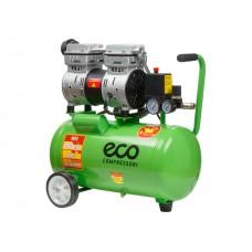Компрессор ECO AE-25-OF1( (140 л/мин, 8 атм, коаксиальный, безмасляный, ресив. 24 л, 220 В, 0,8 кВт)