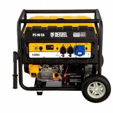 Генератор бензиновый PS 90 EA, 9,0 кВт, 230В, 25л, коннектор атики, электростартер// Denzel Автом 946934