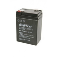 Аккумулятор 6V 4.5Ah  Robiton VRLA6-4.5,  70х47х101мм, 07627  407383