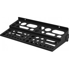 Полка для инструмента пластиковая мини черная, 48 отверстий, 300х150 мм (50050) КУРС РОС 65703