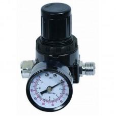 Регулятор давления с монометром вход 1/4 выход быстросъем Pegas 4604