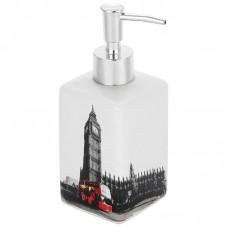 Дозатор для жидкого мыла Лондон, керамика, DIS-L, 2904 Рыжий Кот  612686