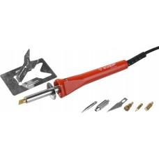 Прибор  МАСТЕР для выжигания, пайки, резки с набором насадок, 5шт+нож Зубр 55426