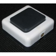 Кнопка звонка (выкл. для быт. звонка) А10.4-001 черно-белая (полистирол, прямоуг.) Витебск  1531