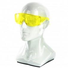 Очки защитные открытого типа, желтые, ударопрочный поликарбонат Р// Сибртех 89157