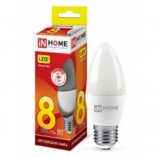 Лампа свеча /InHome VC свеча C37 E14 8W(600lm) 6500K 6K (без пульсации) 4806 ASD 702880