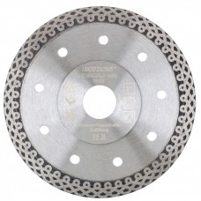 Диск алмазный 115*22,2мм, тонкий, сплошной (Jaguar), мокрое резание// Gross 73052