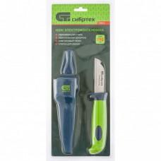 Нож-стамеска с чехлом, 195 мм, лезвие - 75 мм// Сибртех 79018