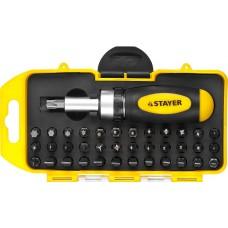Набор  Compact-38 набор: реверсивная отверка с насадками 38 шт Stayer 2557-H38