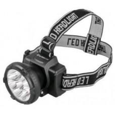 Фонарь  фонарь налобный LED5363 (акк. 4V 0.5Ah) 9св/д (36lm),черн./пластик,отраж,2 реж, з/у 220V Ultraflash 411299