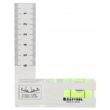 Уровень  Crystal 75 х 100 мм, компактный уровень-угольник Kraftool 1-34867