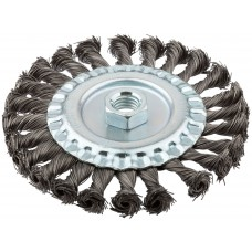 Корщетка -колесо, гайка М14, стальная витая проволока 125 мм FIT 39123