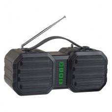 Колонка Bluetooth Perfeo STAND FM, MP3 microSD, USB, AUX, 10W, 2400mAh, черная/зеленая 734927