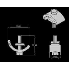 Зажим для крепления кронштейна на балку H-C11Rail clip (H-CO8) EURO-LIFT 00016601