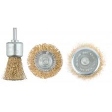Корщетки со штифтом, набор 3 шт. (колесо 50 мм / чашка 50 мм / венчик 25 мм) () MOS 38561М