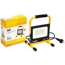 Прожектор   св/д LED СДО 06-50П 50W(4000lm) переносной 6500К IP65 черный LPDO603-050-65-K02 IEK 733603