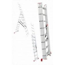 Лестница 3х секционная алюминиевая 3*7 97817