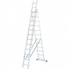 Лестница 3 х 12 ступеней, алюминиевая, трехсекционная // СИБРТЕХ // 97822