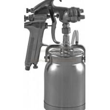 "Пистолет покрасочный ""Краскопульт"" нижний бачок алюминиевый 1л, дюза 1,6мм. JonnesWay JA-507S 47598"