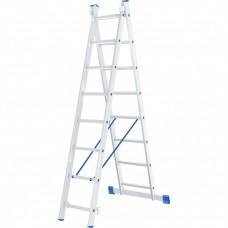 Лестница 2х секционная алюминиевая 2*8 Сибртех 97908