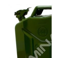 Канистра для бензина 15л. металлическая (со стопорным шплинтом на крышке)