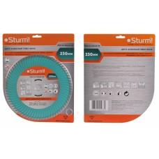 Алмазный диск, сухая/влажная резка Turbo Wave 230мм 9020-04-230x22-TW