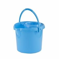 Ведро пластмассовое круглое с отжимом 12л, голубое //ТМ Elfe /Р 92964