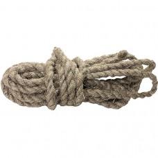 Веревка льнопеньковая, D 12 мм, L 10 м, крученая// СИБРТЕХ//Р 94012