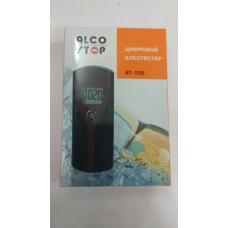Алкотестер AT-105 портативный (0,00-1,99 промилле) LCD-дисплей с подсветкой, звуковой сигнализатор 3V ALCO STOP /1/100 HIT AT-105