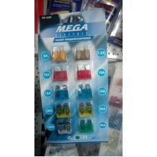 Набор флажковых предохранителей 5-30A (10шт) MEGA ELECTRIC /1/500/1000 HIT FS-530
