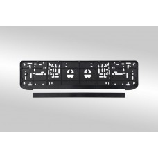 Рамка для номерного знака AB-020WC белая сталь (на стальной подложке) /1 AB-020WC